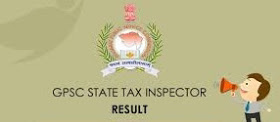 GPSC has declared the result of State Tax Inspector